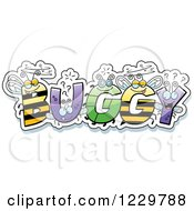 Clipart Of Letter Insects Forming The Word BUGGY Royalty Free Vector Illustration