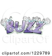 Clipart Of Insects Forming The Word BUZZ Royalty Free Vector Illustration