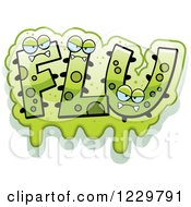 Clipart Of Green Slimy Monsters Forming The Word Flu Royalty Free Vector Illustration