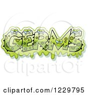 Green Slimy Monsters Forming The Word Germs