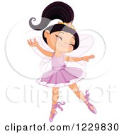 Clipart Of A Happy Ballerina Princess Girl Dancing Royalty Free Vector Illustration by Pushkin
