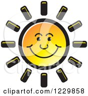 Clipart Of A Happy Sun Icon Royalty Free Vector Illustration by Lal Perera
