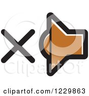Clipart Of A Brown Mute Speaker Icon Royalty Free Vector Illustration by Lal Perera