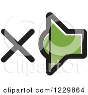 Clipart Of A Green Mute Speaker Icon Royalty Free Vector Illustration by Lal Perera