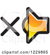 Clipart Of A Gradient Orange Mute Speaker Icon Royalty Free Vector Illustration by Lal Perera