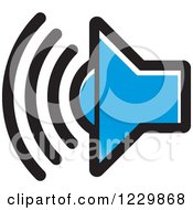 Clipart Of A Blue Speaker Icon Royalty Free Vector Illustration by Lal Perera