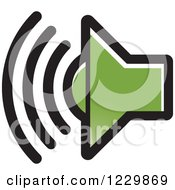 Clipart Of A Green Speaker Icon Royalty Free Vector Illustration by Lal Perera