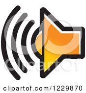 Clipart Of A Gradient Orange Speaker Icon Royalty Free Vector Illustration by Lal Perera