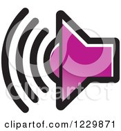 Clipart Of A Purple Speaker Icon Royalty Free Vector Illustration by Lal Perera
