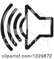 Clipart Of A Black And White Speaker Icon Royalty Free Vector Illustration by Lal Perera