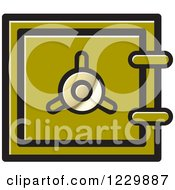 Clipart Of A Dark Green Safe Vault Icon Royalty Free Vector Illustration