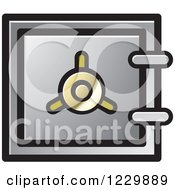 Clipart Of A Gray Safe Vault Icon Royalty Free Vector Illustration