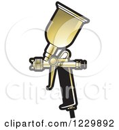 Golden Spray Painting Gun