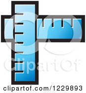 Clipart Of A Blue Rulers Icon Royalty Free Vector Illustration by Lal Perera