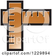 Clipart Of A Brown Rulers Icon Royalty Free Vector Illustration by Lal Perera