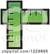 Clipart Of A Green Rulers Icon Royalty Free Vector Illustration by Lal Perera
