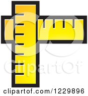 Clipart Of A Yellow Rulers Icon Royalty Free Vector Illustration