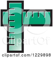Clipart Of A Turquoise Rulers Icon Royalty Free Vector Illustration by Lal Perera