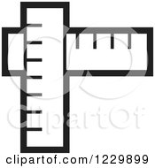 Clipart Of A Black And White Rulers Icon Royalty Free Vector Illustration by Lal Perera