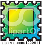 Clipart Of A Gradient Postage Stamp Or Frame Icon Royalty Free Vector Illustration