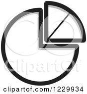 Clipart Of A Grayscale Pie Chart Icon Royalty Free Vector Illustration