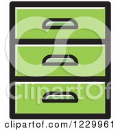 Clipart Of A Green Set Of Drawers Icon Royalty Free Vector Illustration