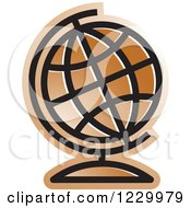 Brown Desk Globe Icon