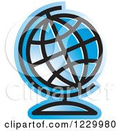 Blue Desk Globe Icon