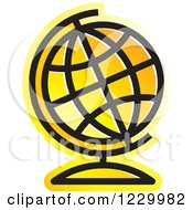 Yellow Desk Globe Icon