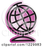 Purple Desk Globe Icon