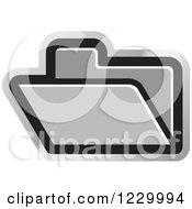 Clipart Of A Silver File Folder Icon Royalty Free Vector Illustration by Lal Perera
