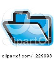 Clipart Of A Blue File Folder Icon Royalty Free Vector Illustration by Lal Perera