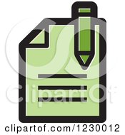Clipart Of A Green Enrollment Document Icon Royalty Free Vector Illustration by Lal Perera