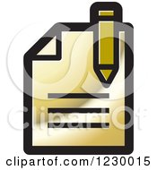 Clipart Of A Gold Enrollment Document Icon Royalty Free Vector Illustration by Lal Perera