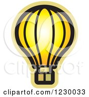 Clipart Of A Yellow Hot Air Balloon Icon Royalty Free Vector Illustration by Lal Perera