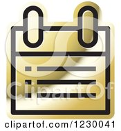 Clipart Of A Golden Calendar Or Chart Icon Royalty Free Vector Illustration