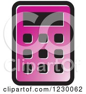 Clipart Of A Purple Calculator Icon Royalty Free Vector Illustration