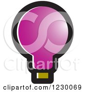 Clipart Of A Purple Light Bulb Icon Royalty Free Vector Illustration