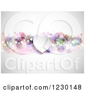 Clipart Of A Sparkly Valentine Heart Background Royalty Free Vector Illustration
