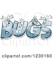 Clipart Of Robot Letters Forming The Word BUGS Royalty Free Vector Illustration