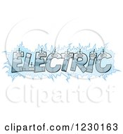 Clipart Of Robot Letters Forming The Word ELECTRIC Royalty Free Vector Illustration