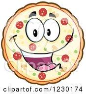 Happy Pizza Pie Mascot