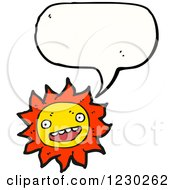 Clipart Of A Talking Sun Royalty Free Vector Illustration by lineartestpilot