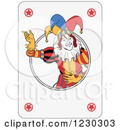 Clipart Of A Joker Playing Card Royalty Free Vector Illustration by Frisko
