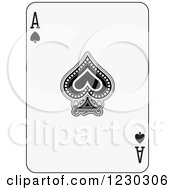 Black And White Ace Of Spades Playing Card
