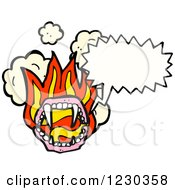Clipart Of A Talking Flaming Vampire Mouth Royalty Free Vector Illustration by lineartestpilot
