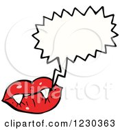 Clipart Of A Talking Vampiress Mouth Royalty Free Vector Illustration by lineartestpilot