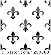 Seamless Black And White Fleur De Lis Background Pattern