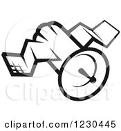 Clipart Of A Black And White Satellite Royalty Free Vector Illustration