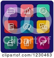 Clipart Of Colorful Square Website Icons Royalty Free Vector Illustration